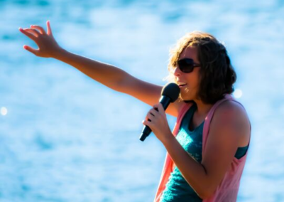Girl on Microphone