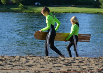 Water Skier on Beach