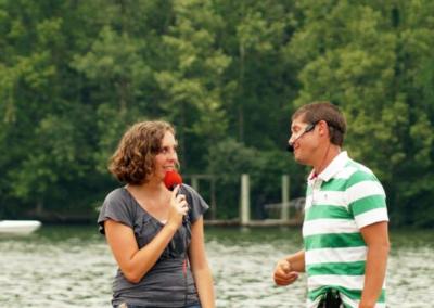 Guy and Girl on Mics